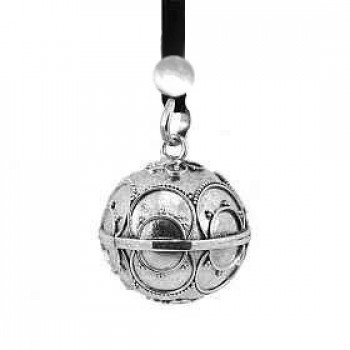 Harmony ball necklace with an engraved silver ball pendant aloadofball Image collections