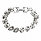 Silver plated chain Bracelet pearls