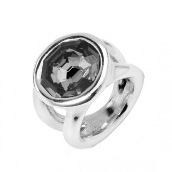 Anthracite Crystal Ring - On my own