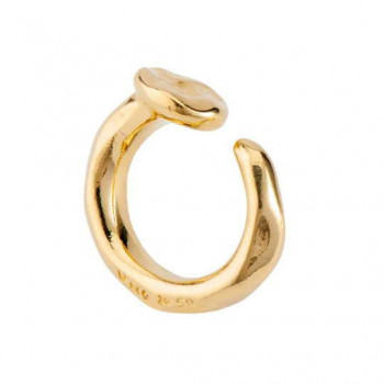 Rounded Gold Nail Ring