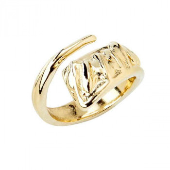 Uneven Gold Ring - A Tickle with a Feather