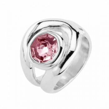 Rosa Kristall Ring - My Way
