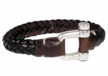 Bracelet en cuir tressé pour homme