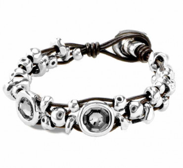 Pulsera Dos Cristales Gris - My Becoming