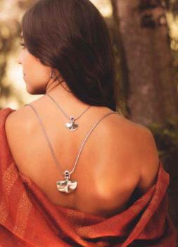 Midi Anchor Silver Necklace - Biloba