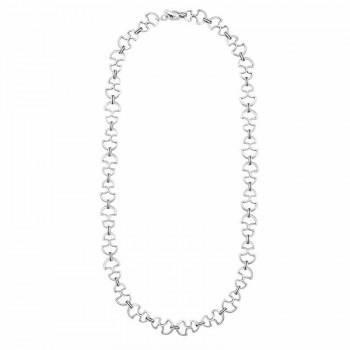 Kunstvolle Silberglieder Kette - Peculiar