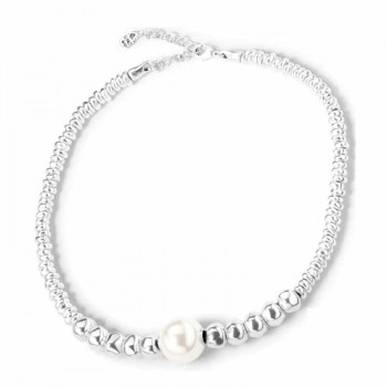 White Pearl Choker Necklace - Moody