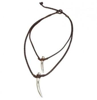 Col16 - Halskette Zwei Horn Anänger
