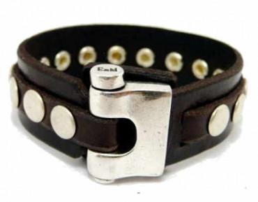 Bracelet Round Silver Studs