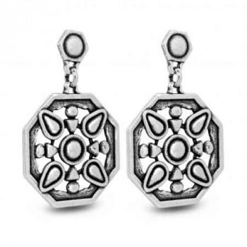 Amulet Silver Earrings - Kiran