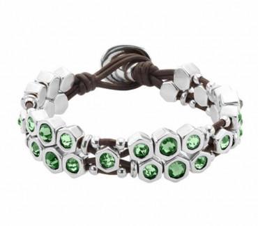 Armband Grüne Kristalle - Honey Moon