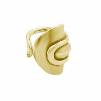 Goldener Schild Ring - Ginko