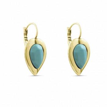 Crystal Leaf Earrings - Genal