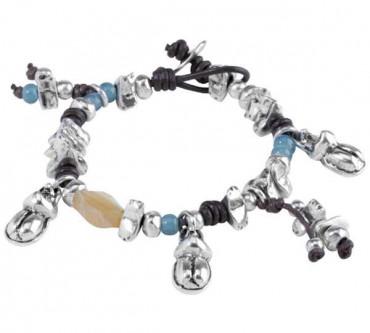 Bracelet with beetle pendants
