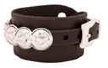 Coin Leather Bracelet
