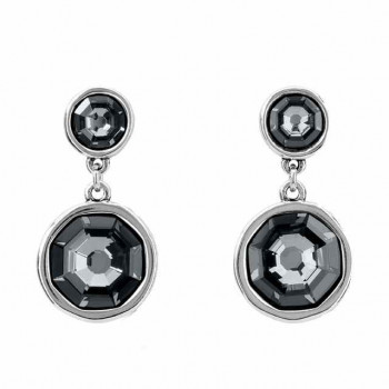 Anthracite Crystal Earrings - Double Trouble