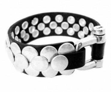 Bracelet Rivets Argent - Manos Arriba