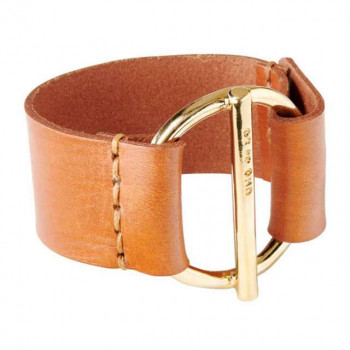 Camel Leather Wristband - Watt's Up