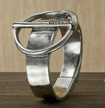 Buckle Silver Wristband - Volt Wagen