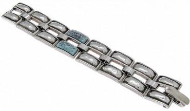 Silberarmband rechteckige Charms