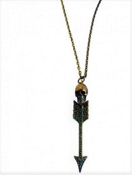 Skull and love arrow vintage necklace