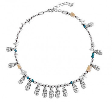 Charm Necklace with Beetles
