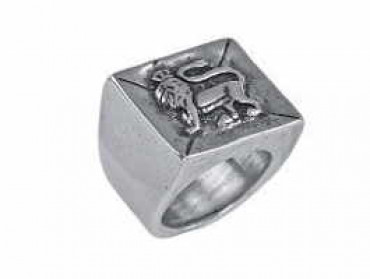 AN4 - Lion Head Signet Ring