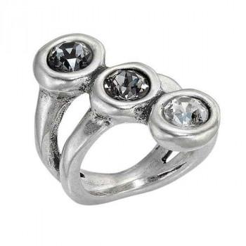 Ring Three Gray Crystals - Alterego