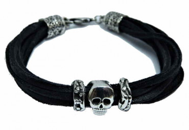 Silber Totenkopf Armband