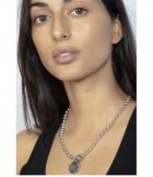 Collar Perlas y Chapa - Anochecer