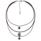 Three Row Boho Necklace - Al Alba