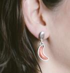 Dangling Half Moon Earrings