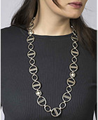 Round Link Necklace - Fabulosa