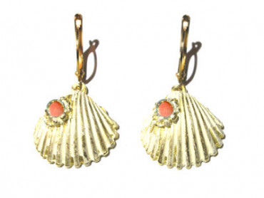 XXL 2166 rj - Seashell Earrings