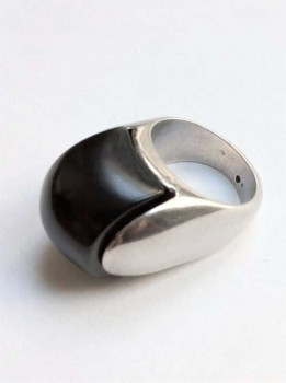 Silver Ring with black stone