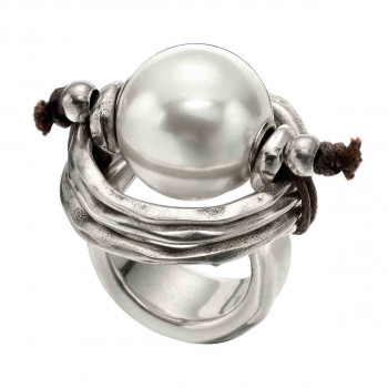 A 390 - White Pearl Silver Ring