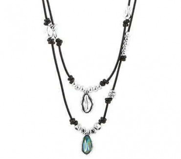 C182831 - Necklace Two Heights