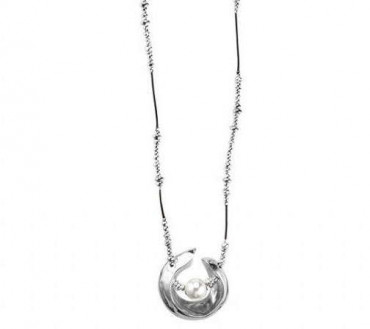 C1247 - Long Half Moon Necklace