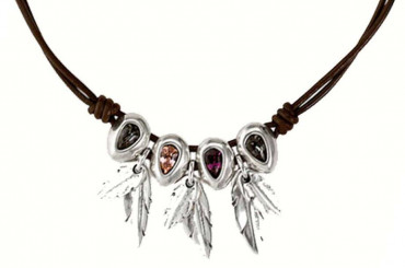 C1313 - Swarovski Crystals & Feather Pendants