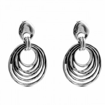 Spiral Silver Earrings - Espiral
