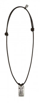 Masculine Pendant Leather Necklace - Tres-Oro