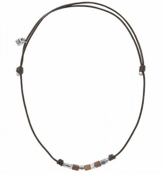 Masculine Beaded Leather Necklace - Proof