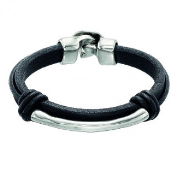 Mens Tube Leather Bracelet