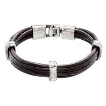 Bracelet Cuir 3 Cramps - 1 2 3 UP