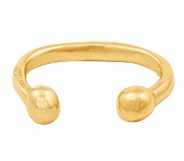 GOLD BANGLE WITH BALLS  - ZEN