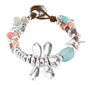 P1734 - Dragonfly Multicolor Pearl Bracelet