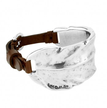 P1776 - Feather Cuff Leather Wristband