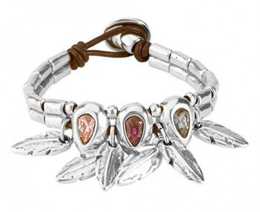 P1779 - Feather & Crystal Bracelet
