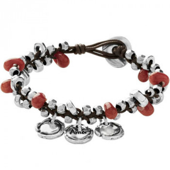 P1602 - On Fire Bracelet with Red Beads