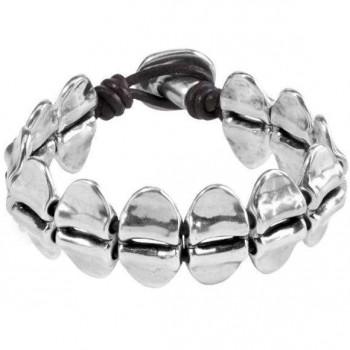 Bracelet Oval Silver Pieces